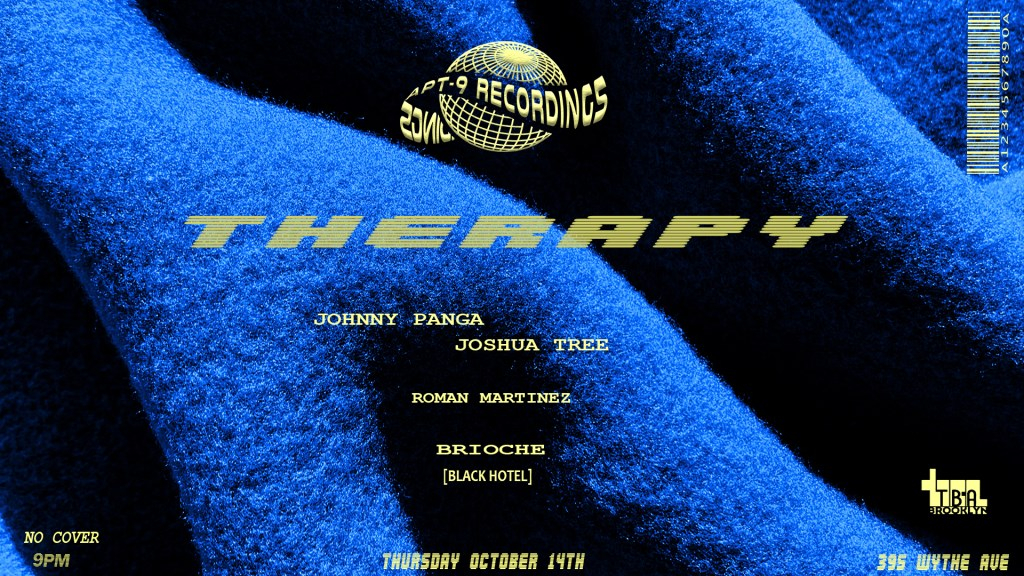 APT-9 Recordings: Therapy - Flyer front