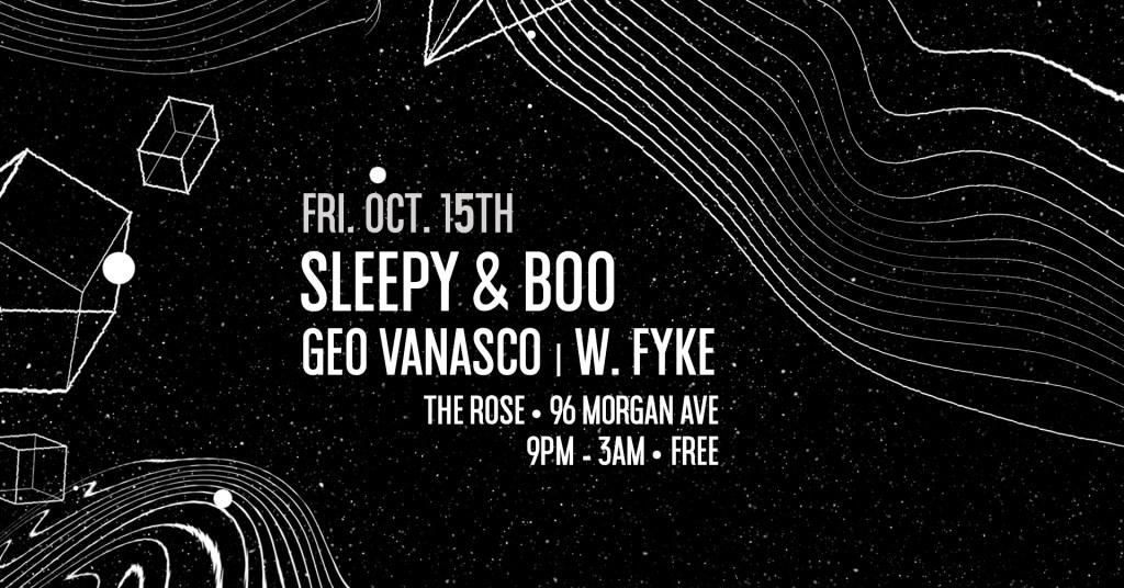 Sleepy & Boo, Geo Vanasco, W. Fyke - The Rose - Flyer front