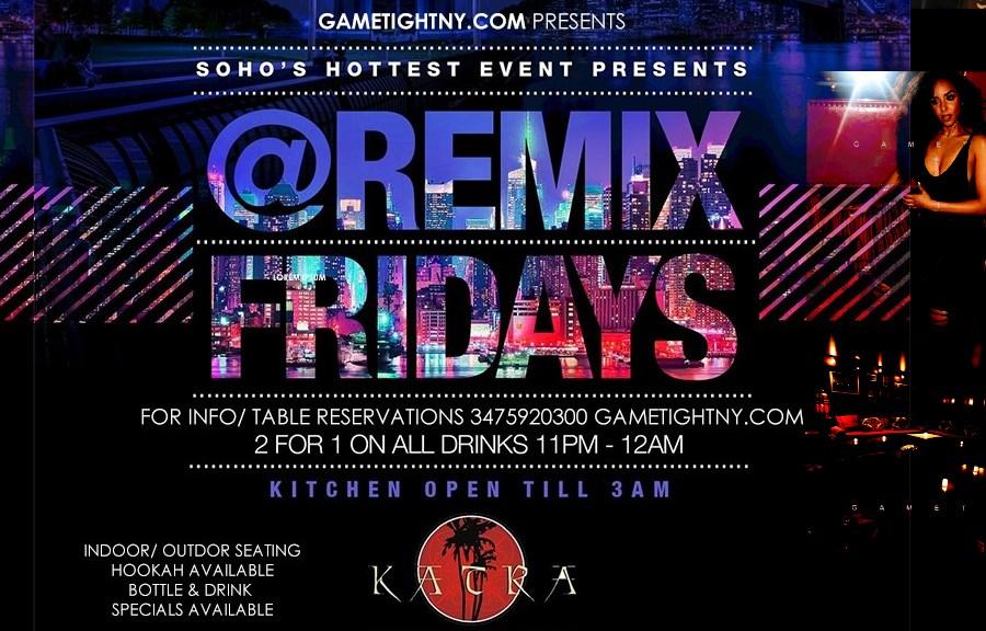 Hip Hop vs Reggae Remix Fridays - Flyer front