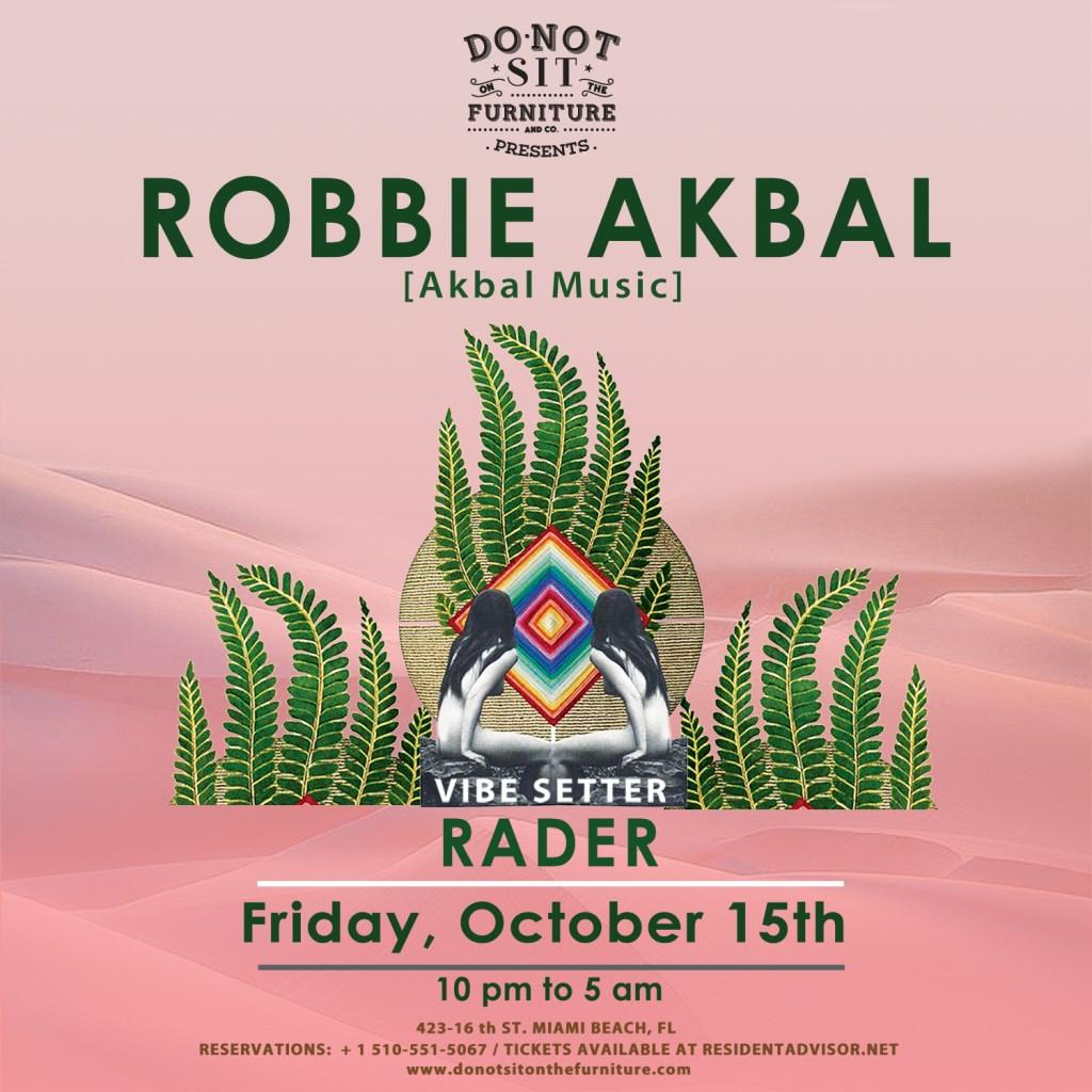 Robbie Akbal [Akbal Music] - Flyer front