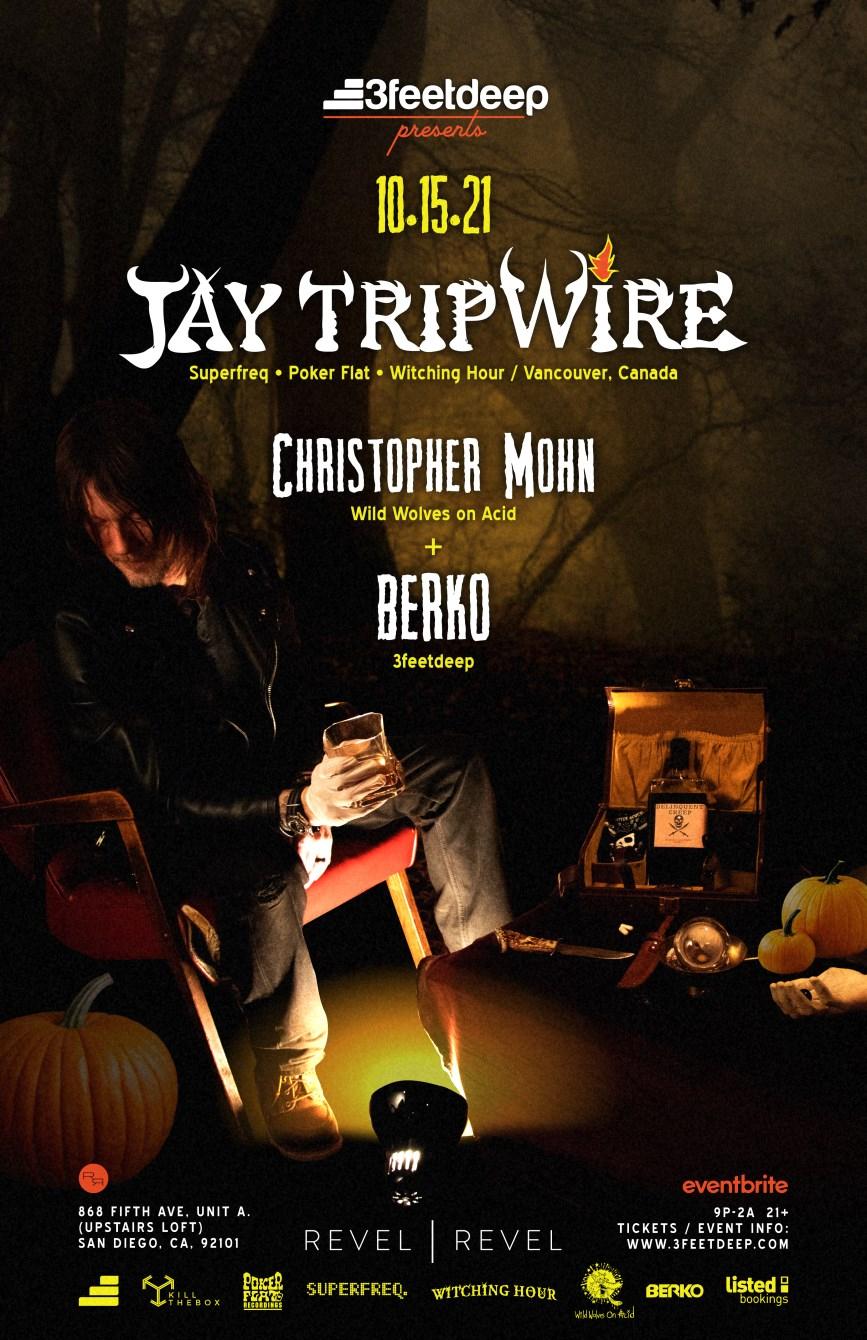 Jay Tripwire (Vancouver/Can), Christopher Mohn (Dance Spirit) + Berko - Flyer front