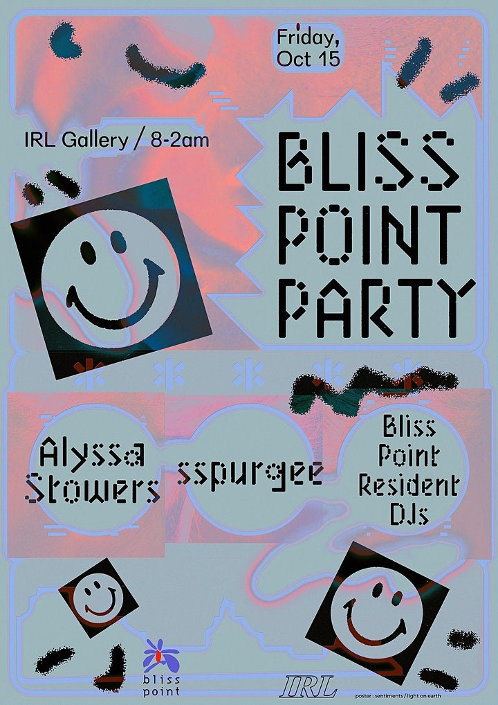 Bliss Point - Flyer front