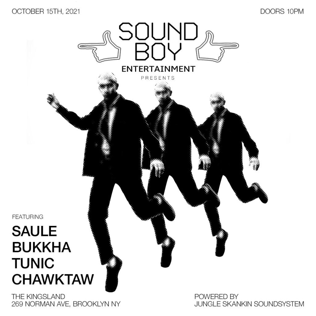 SBE present Saule and Bukkha - Flyer back