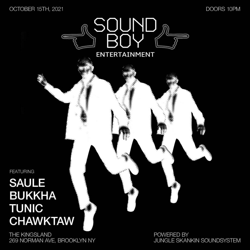 SBE present Saule and Bukkha - Flyer front