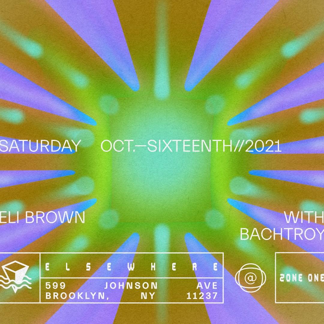 Eli Brown, Bachtroy - Flyer back