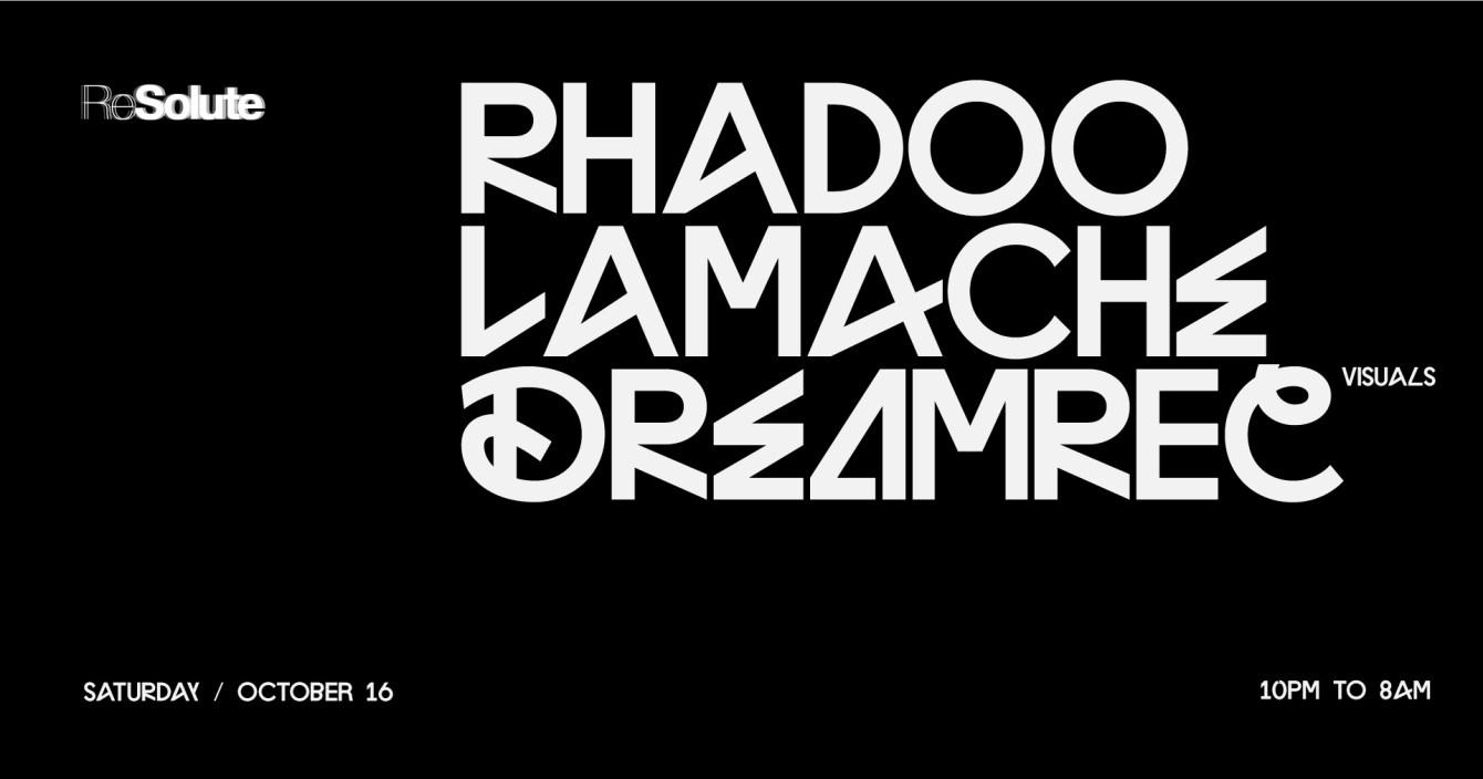 Resolute w Rhadoo & Lamache - Flyer front
