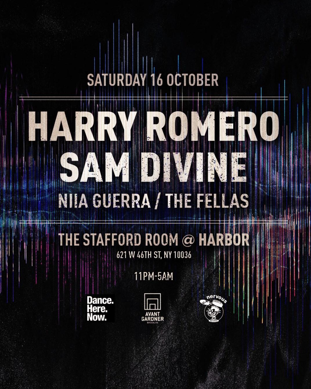 Harry Romero, Sam Divine - Flyer back