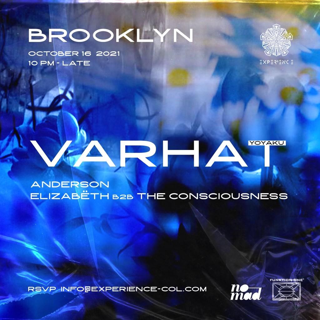 Experience w Varhat (Yoyaku) NYC - Flyer front