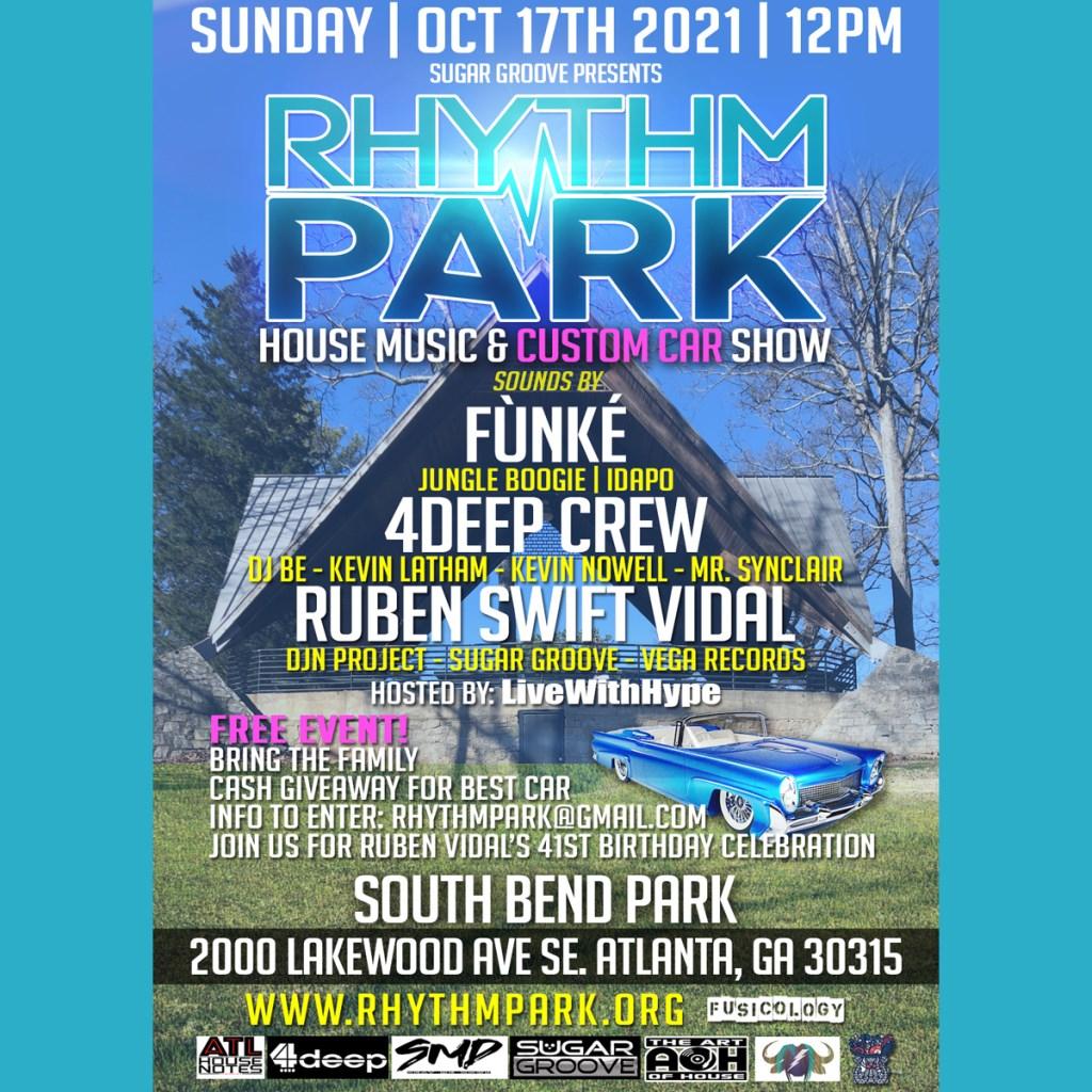 Rhythm Park 2021 - Flyer front