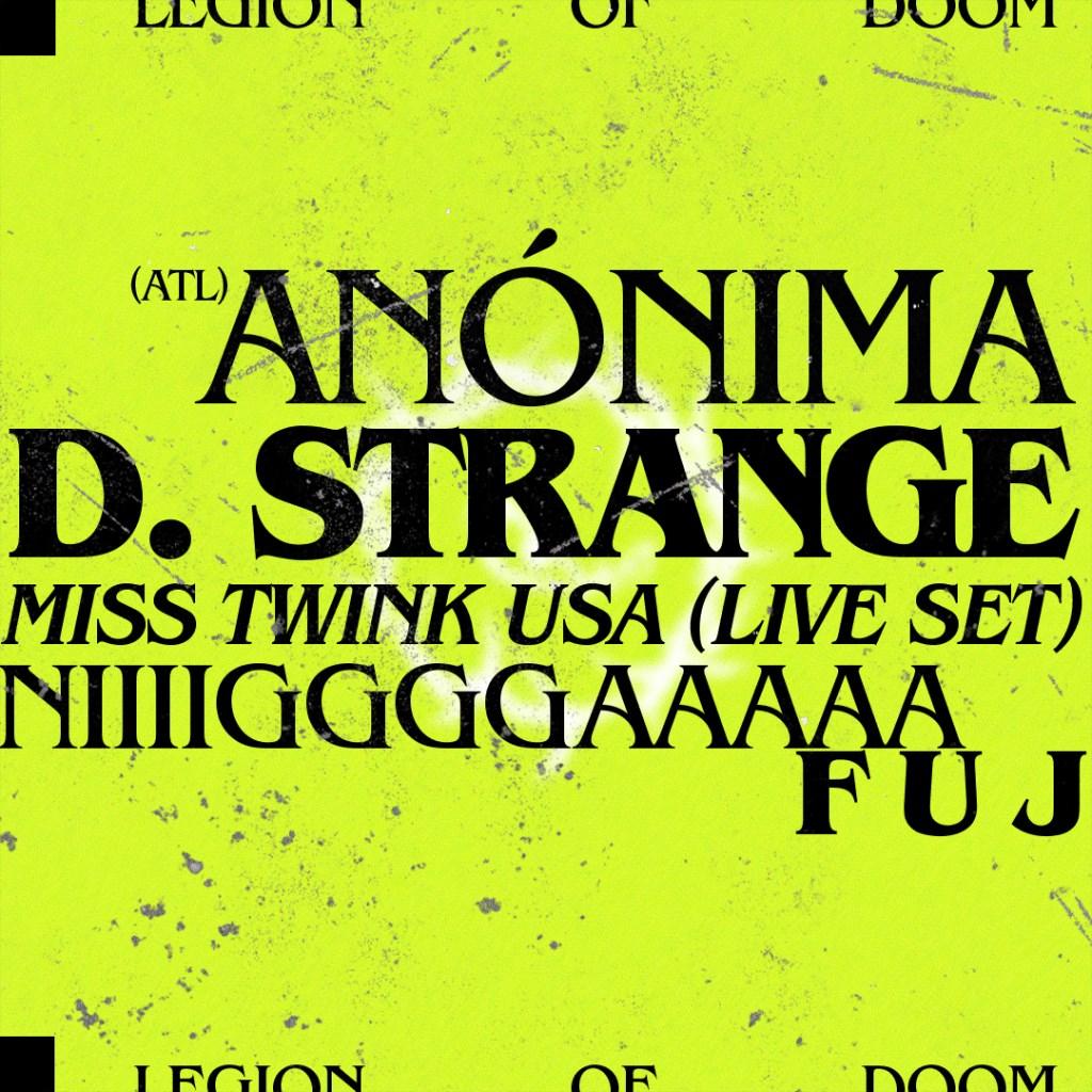 Legion of Doom - Flyer back