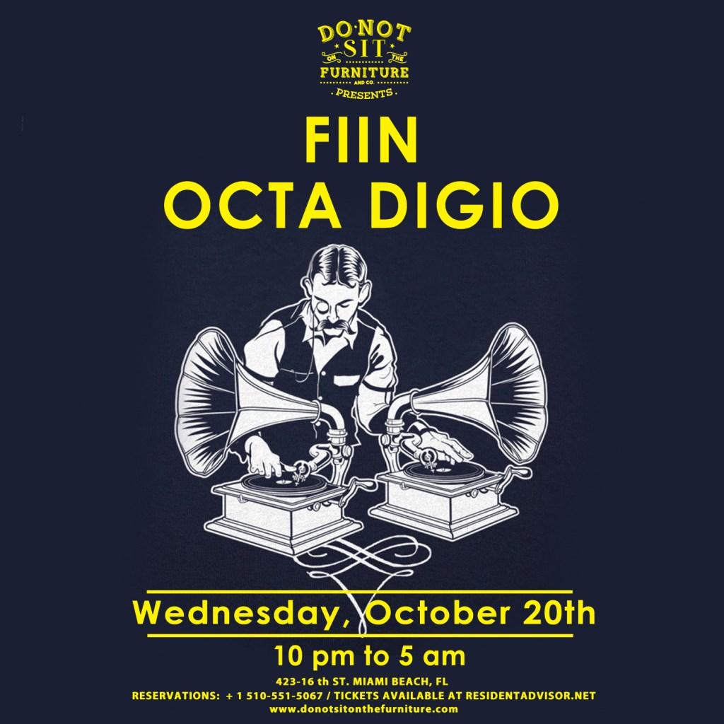 Fiin and Octa Digio - Flyer front