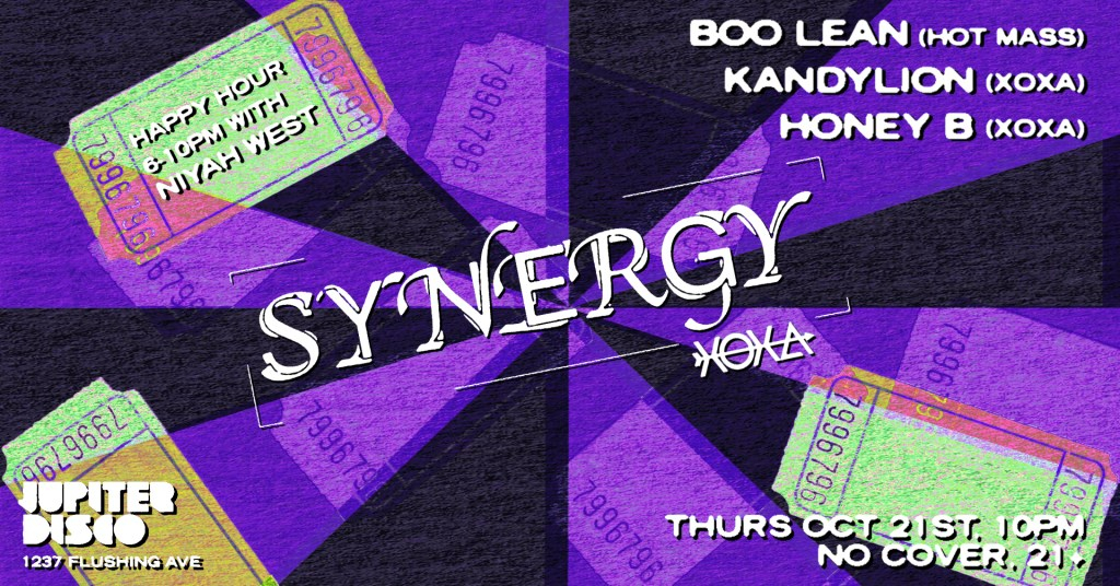 Synergy feat. Boo Lean, Honey B & Kandylion - Flyer front
