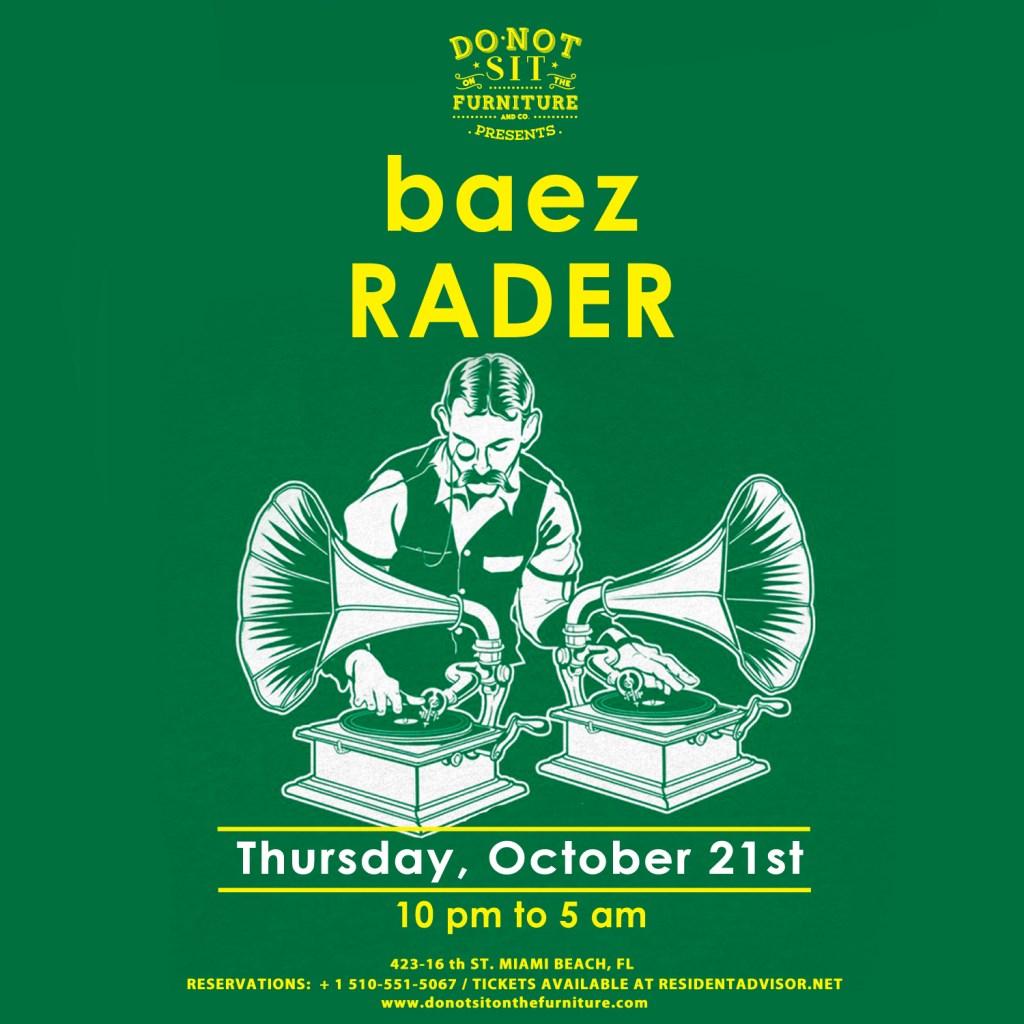 BAEZ and Rader - Flyer front
