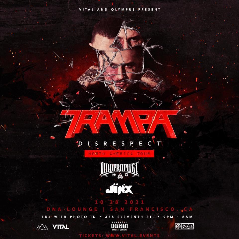 Trampa: Disrespect North America Tour, San Francisco - Flyer front
