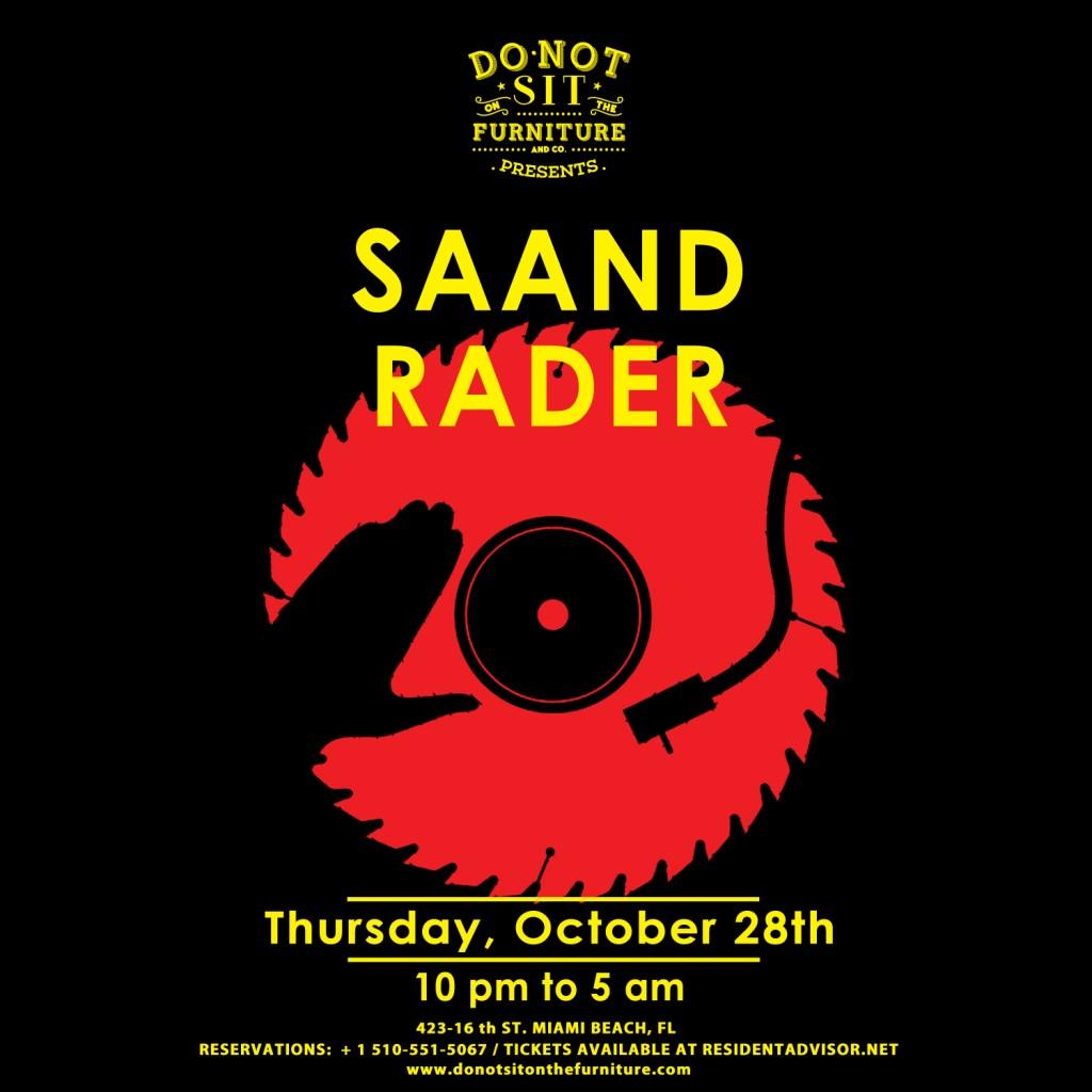 Saand and Rader - Flyer front