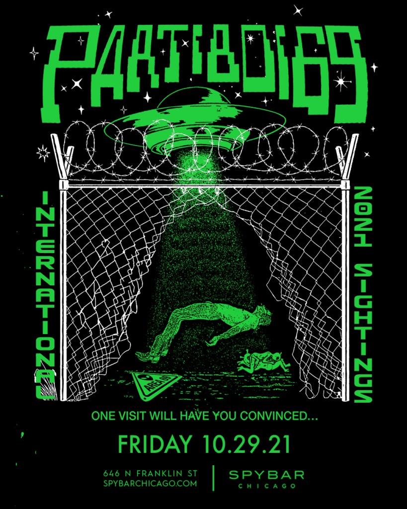 Partiboi69 International Tour 2021 - Flyer front