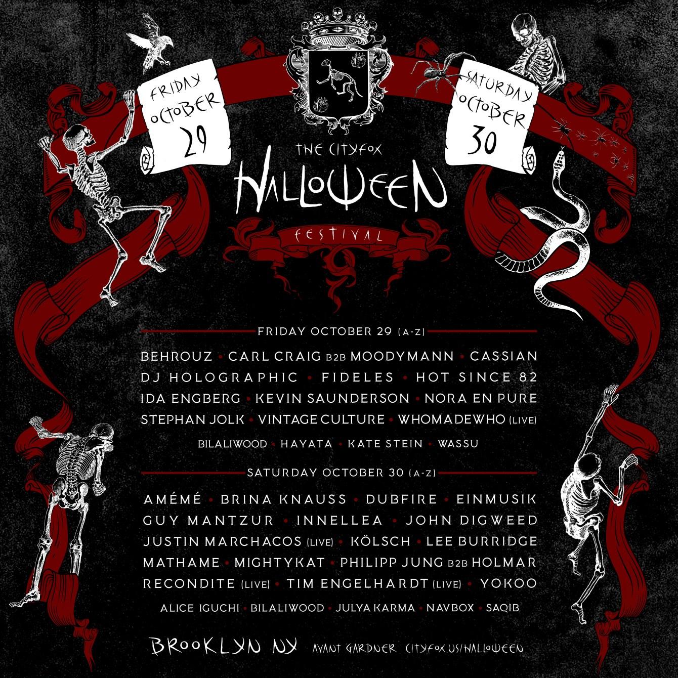 Cityfox Halloween Festival (OCT 29+30) - Flyer front