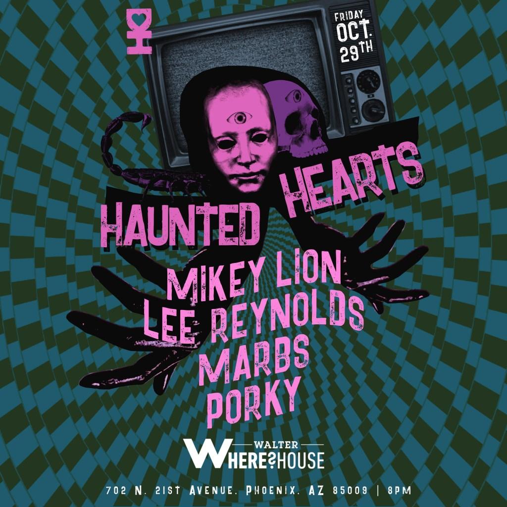 Desert Hearts presents: Haunted Hearts - Flyer front