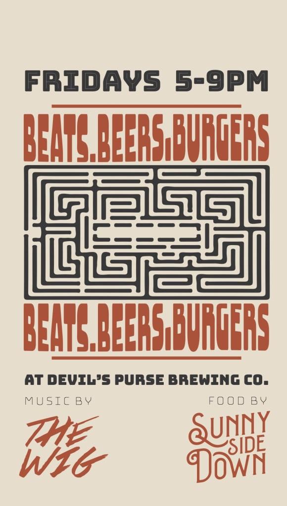Beats.Beers.Burgers - Flyer front