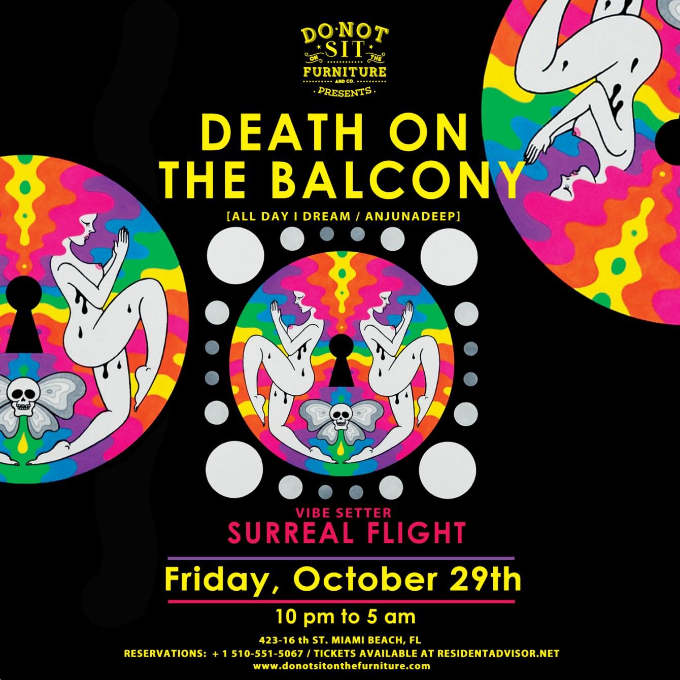 Death On The Balcony [All Day I Dream / Anjunadeep] Halloween Edition - Flyer front