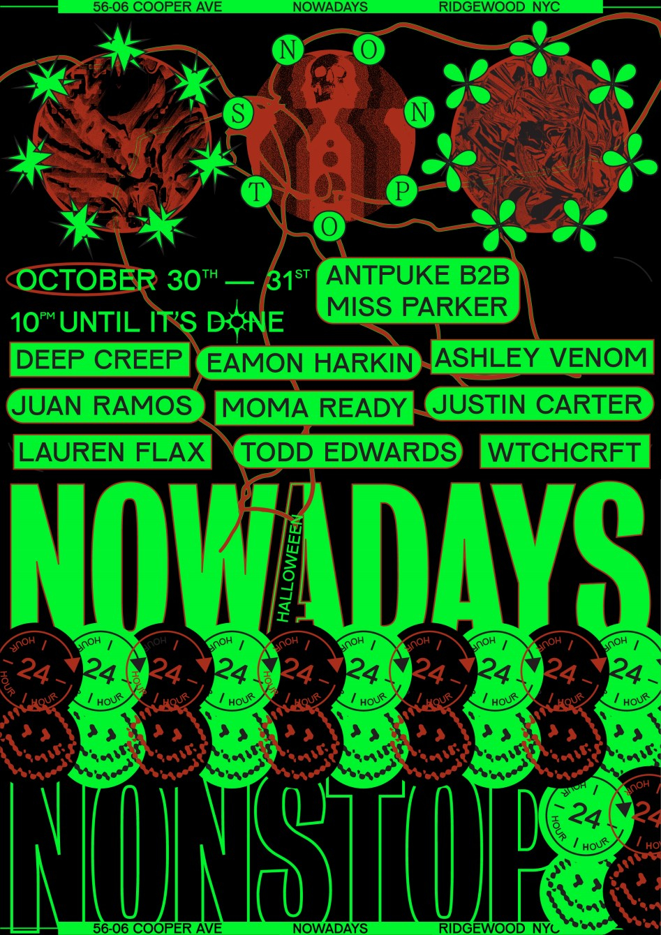 Nowadays Nonstop / Two Tix Per Person / Vax Proof Required - Flyer front