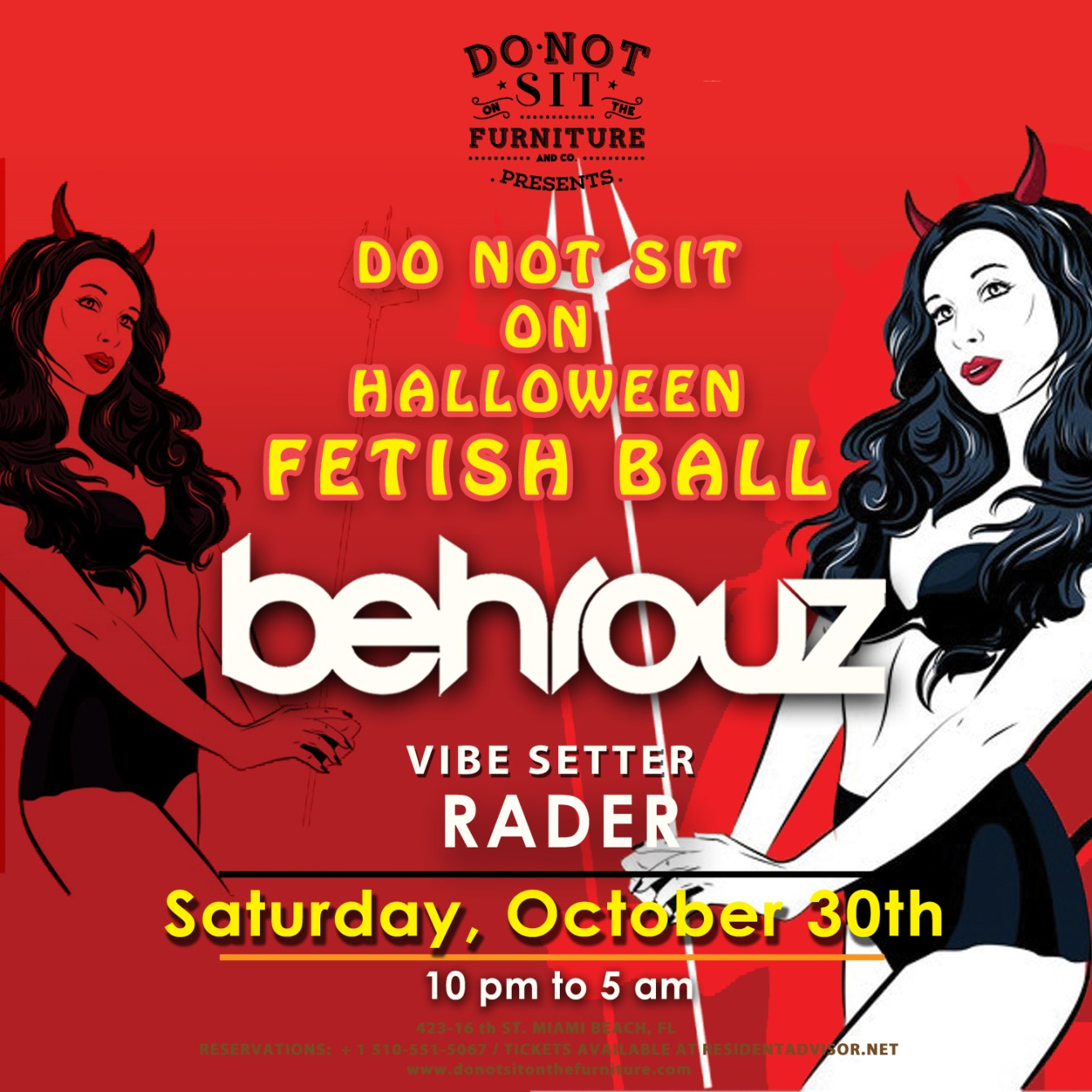 Behrouz at Do Not Sit On Halloween Fetish Ball - Flyer front
