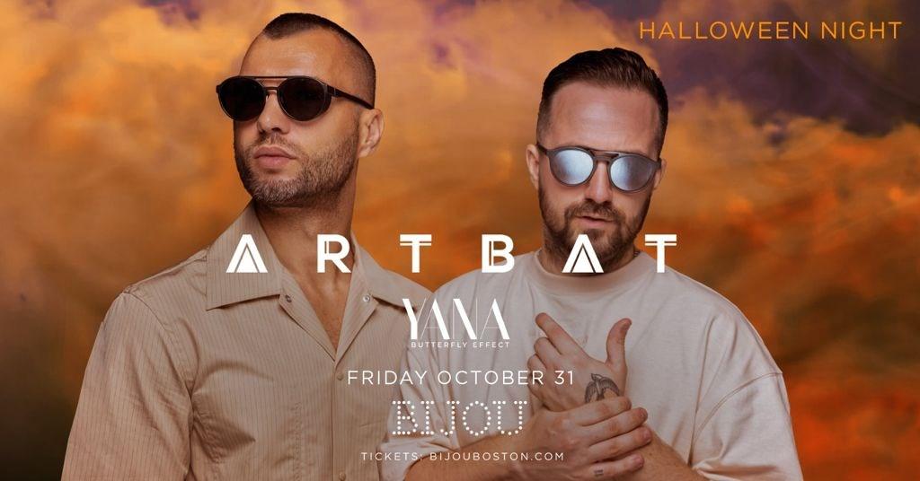 Artbat at Bijou Boston - Flyer front