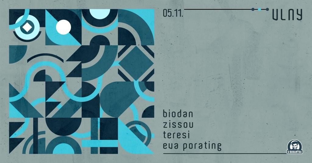 Vlny with DJs Biodan, Zissou, Teresi, Eva Porating - Flyer front