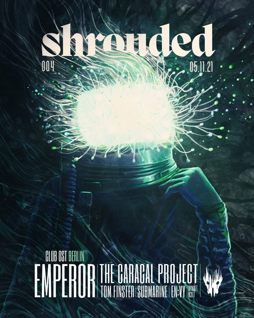 Shrouded with Emperor, The Caracal Project, Tom Finster, submarine & En:vy - Flyer front