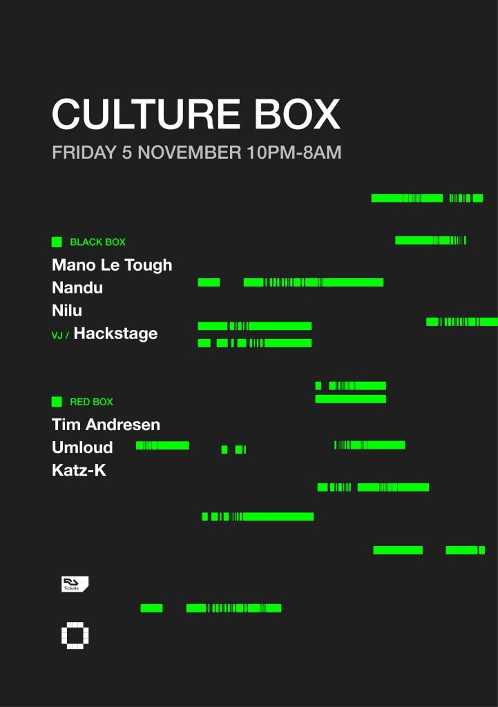 Mano Le Tough / Nandu / NILU / Tim Andresen / Umloud / Katz-K - Flyer front