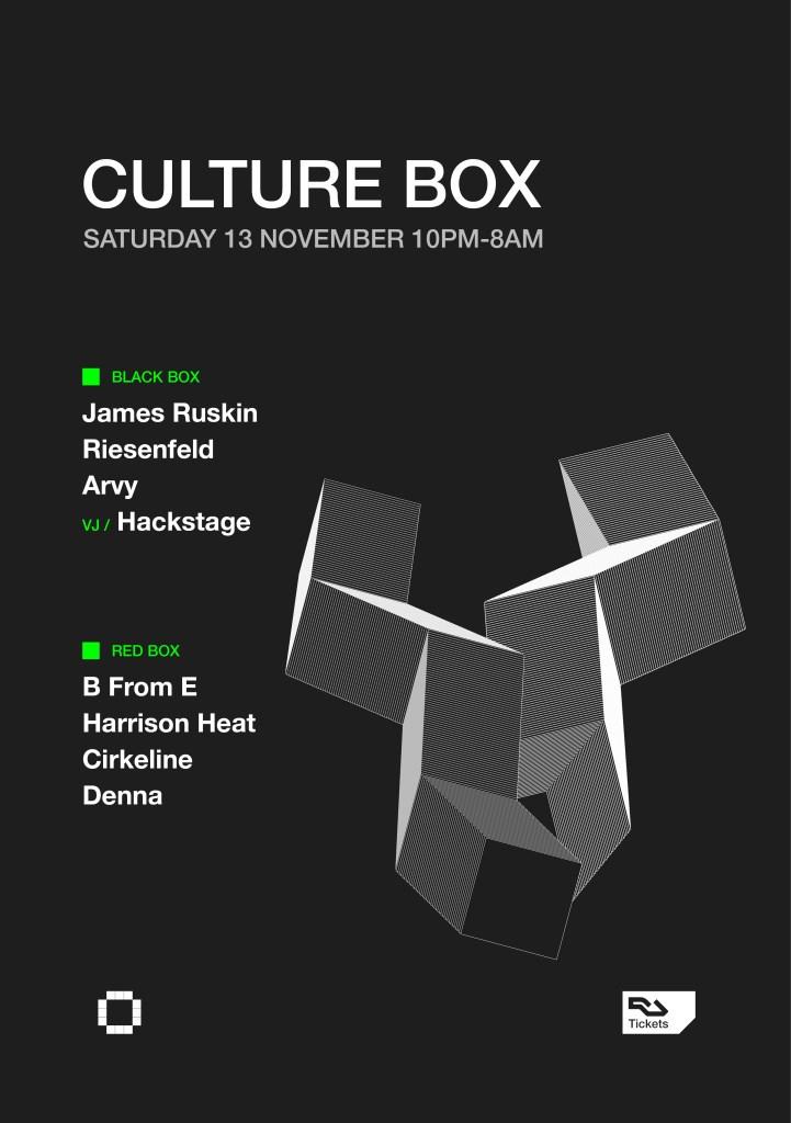 James Ruskin / Riesenfeld / Arvy / B From E / Harrison Heat / Cirkeline / Denna - Flyer front