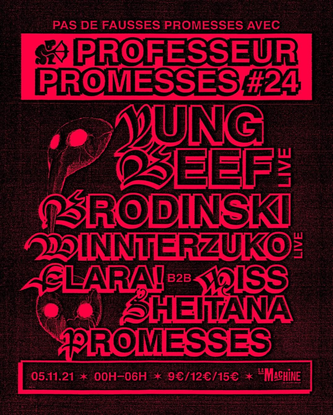 Professeur Promesses - Flyer back
