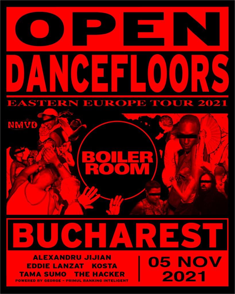 Nmvd X Boiler Room Eastern Europe Tour - Open Dancefloors - Flyer front