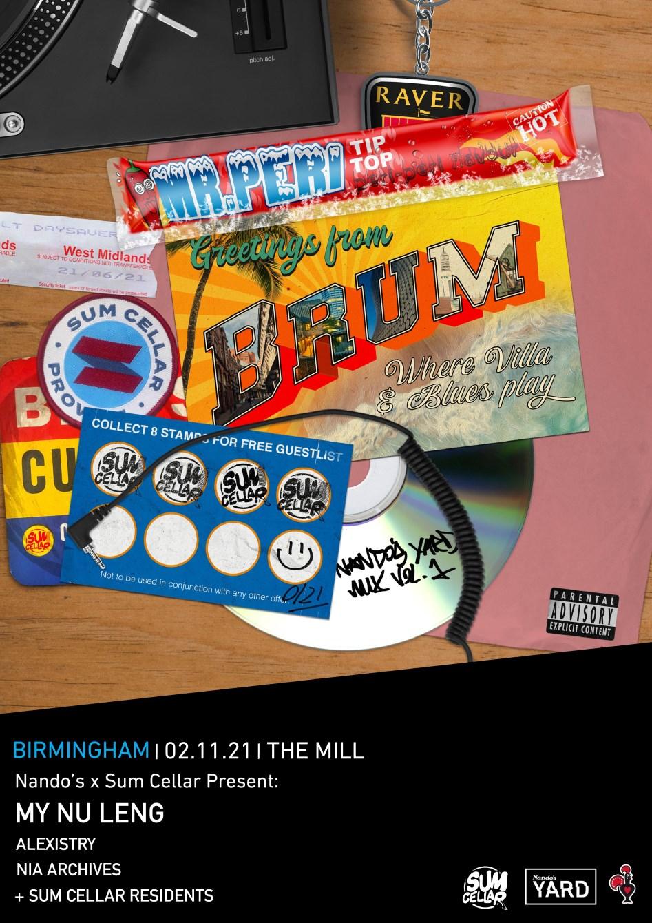 Nando's Yard On Tour: Birmingham - Flyer front