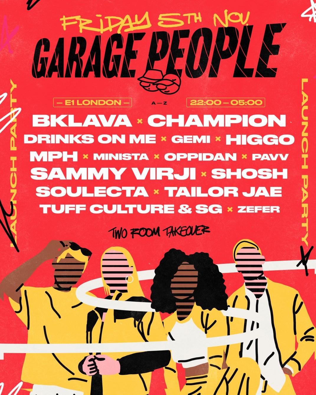 Garage People - Flyer front