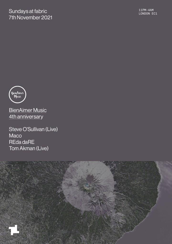 Sundays at fabric: BienAimer Music 4th Anniversary - Flyer front