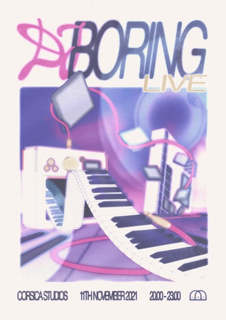 LWE presents DJ Boring (Live) - Flyer front