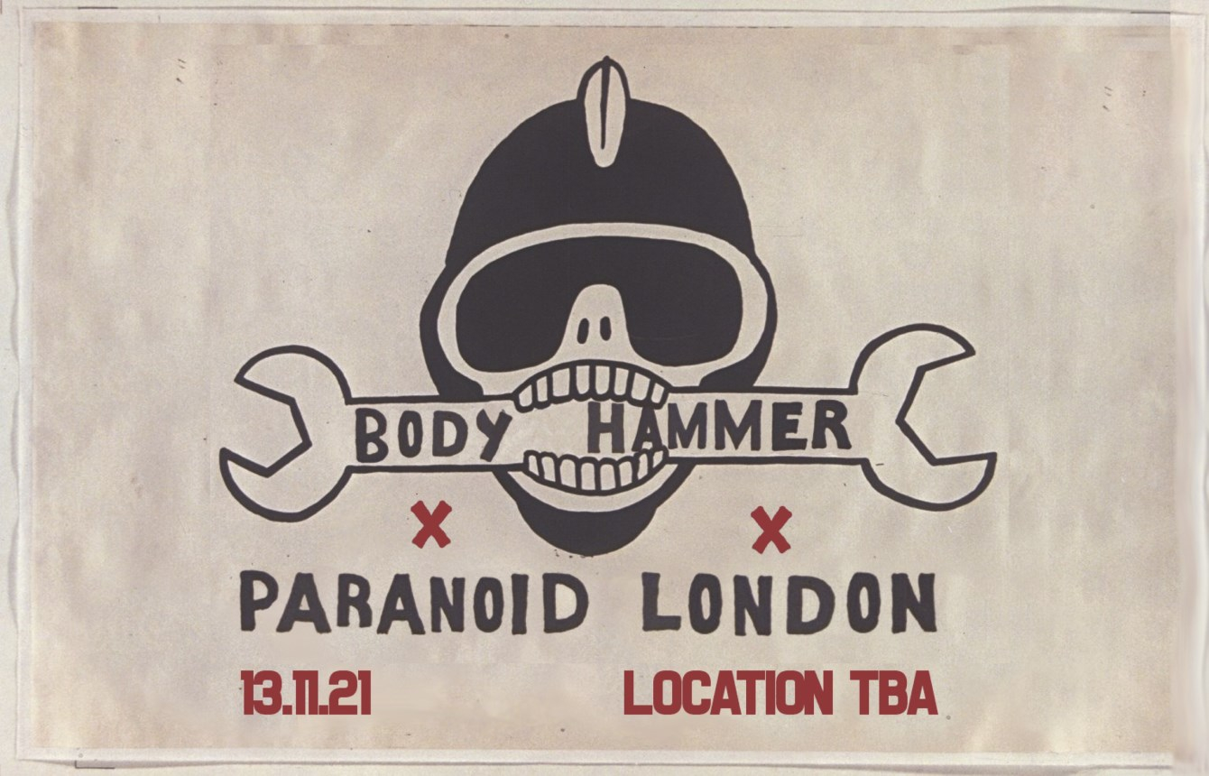 Body Hammer x Paranoid London (Live) - Flyer front