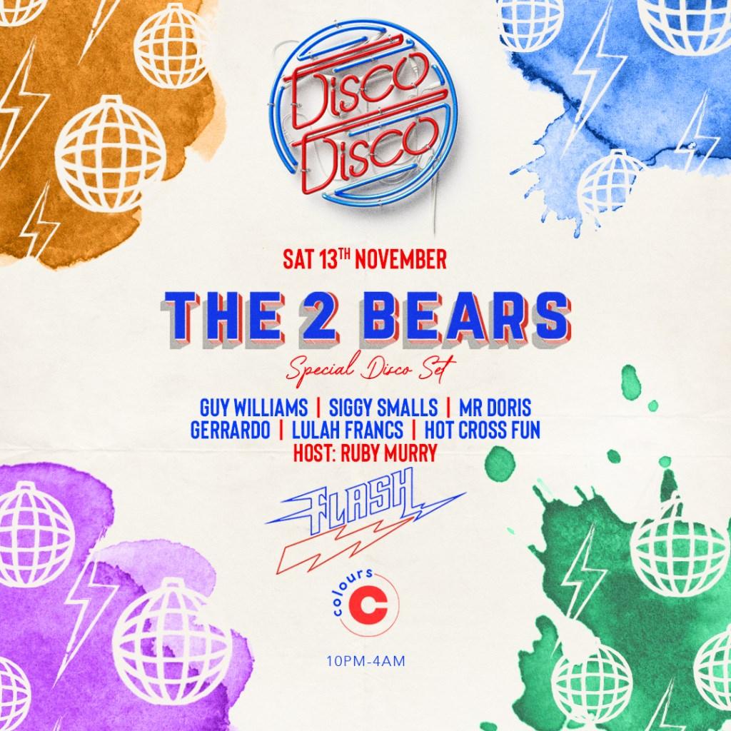 Disco Disco x Flash - The 2 Bears - Flyer front