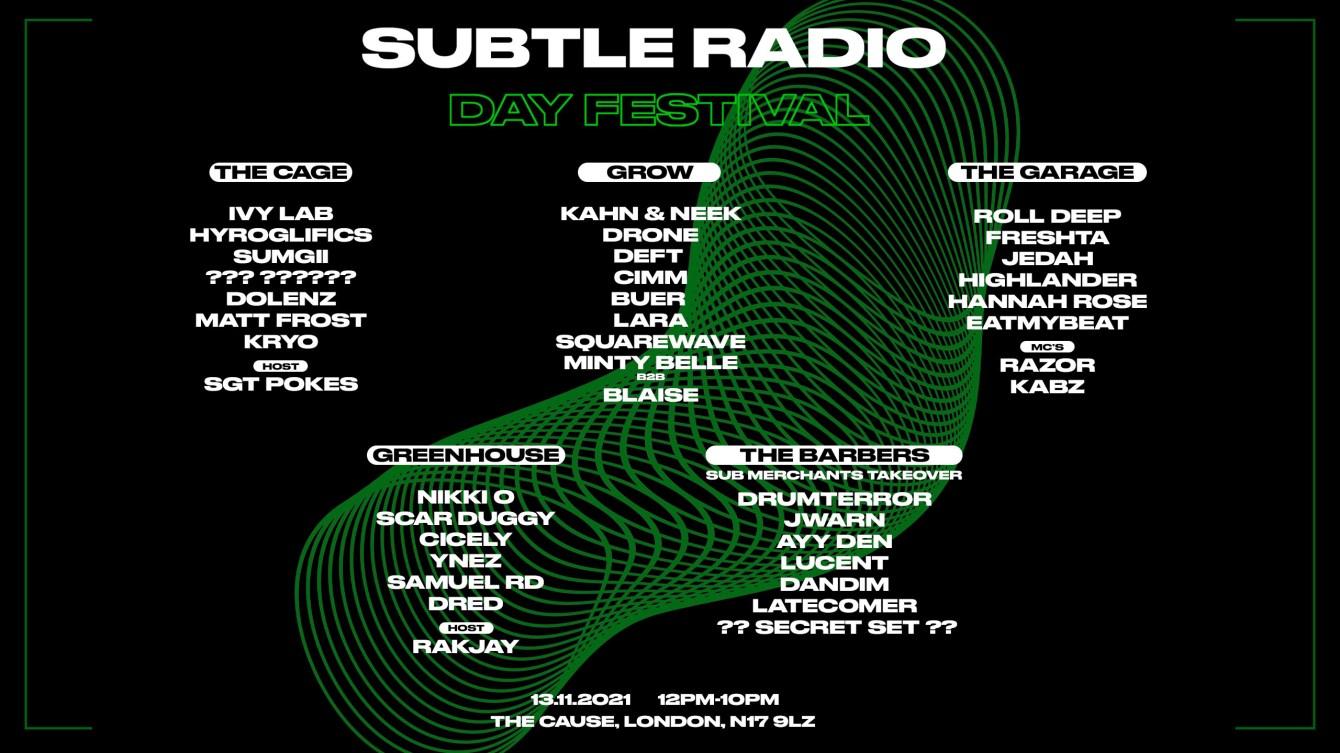 Subtle Radio: Day Festival - Flyer front