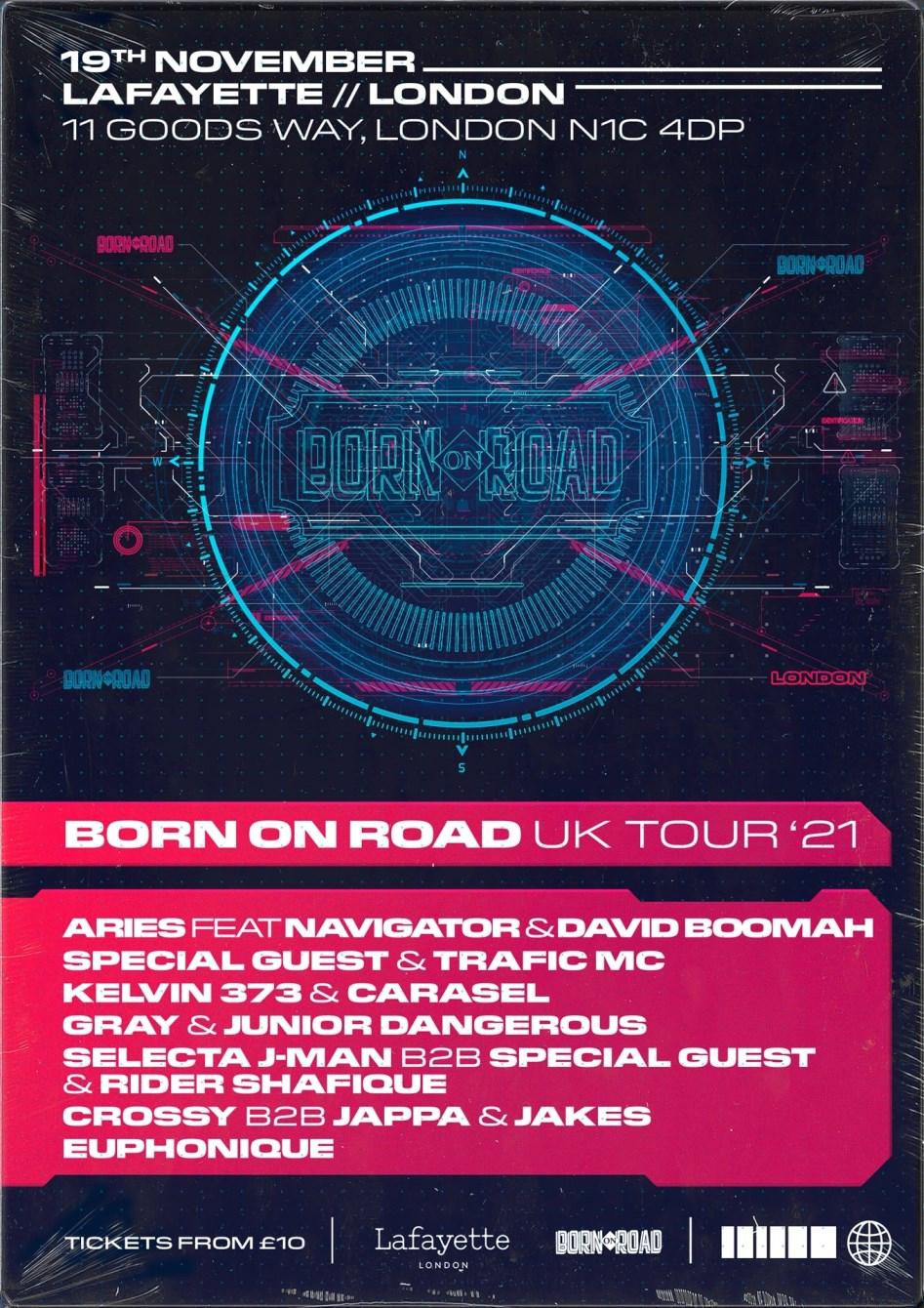 Born On Road UK Tour 2021 - Flyer back