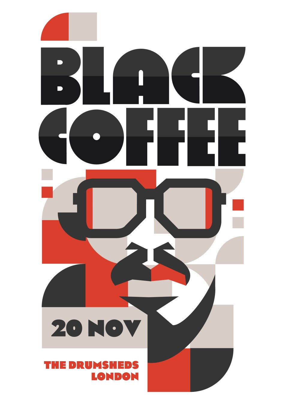 Black Coffee - Flyer front