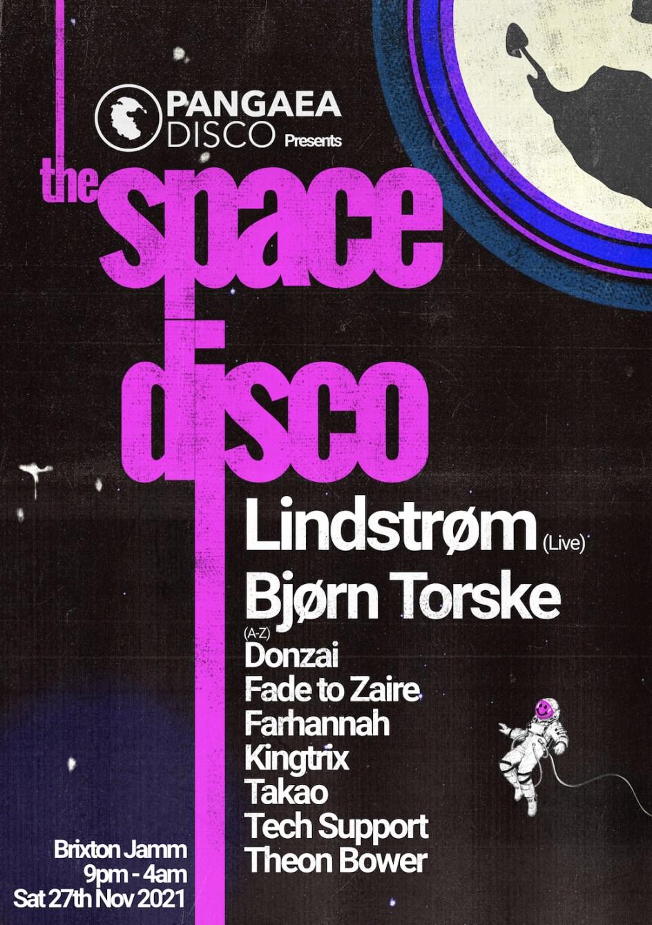 The Space Disco with Lindstrøm, Bjørn Torske & More - Flyer front
