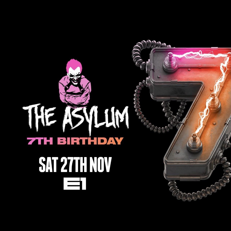 The Asylum 7th Birthday - Flyer front