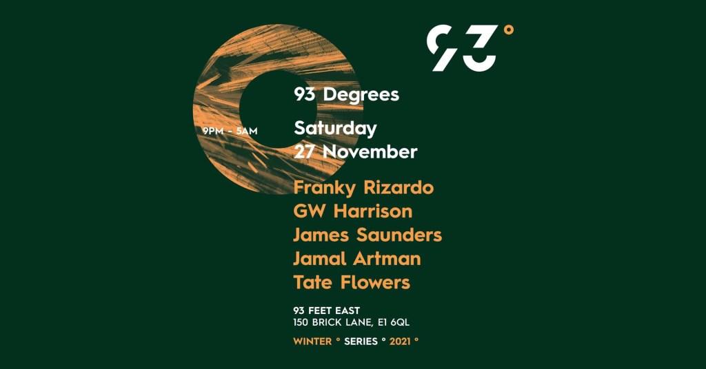 93° Degrees: Franky Rizardo & GW Harrison - Flyer front