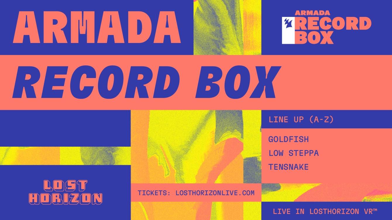 [POSTPONED] Armada Music presents Armada Record Box - Lost Horizon - Flyer front