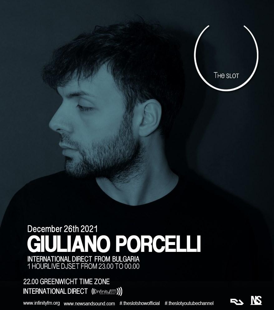 Giuliano Porcelli presenta Theslot - Flyer front