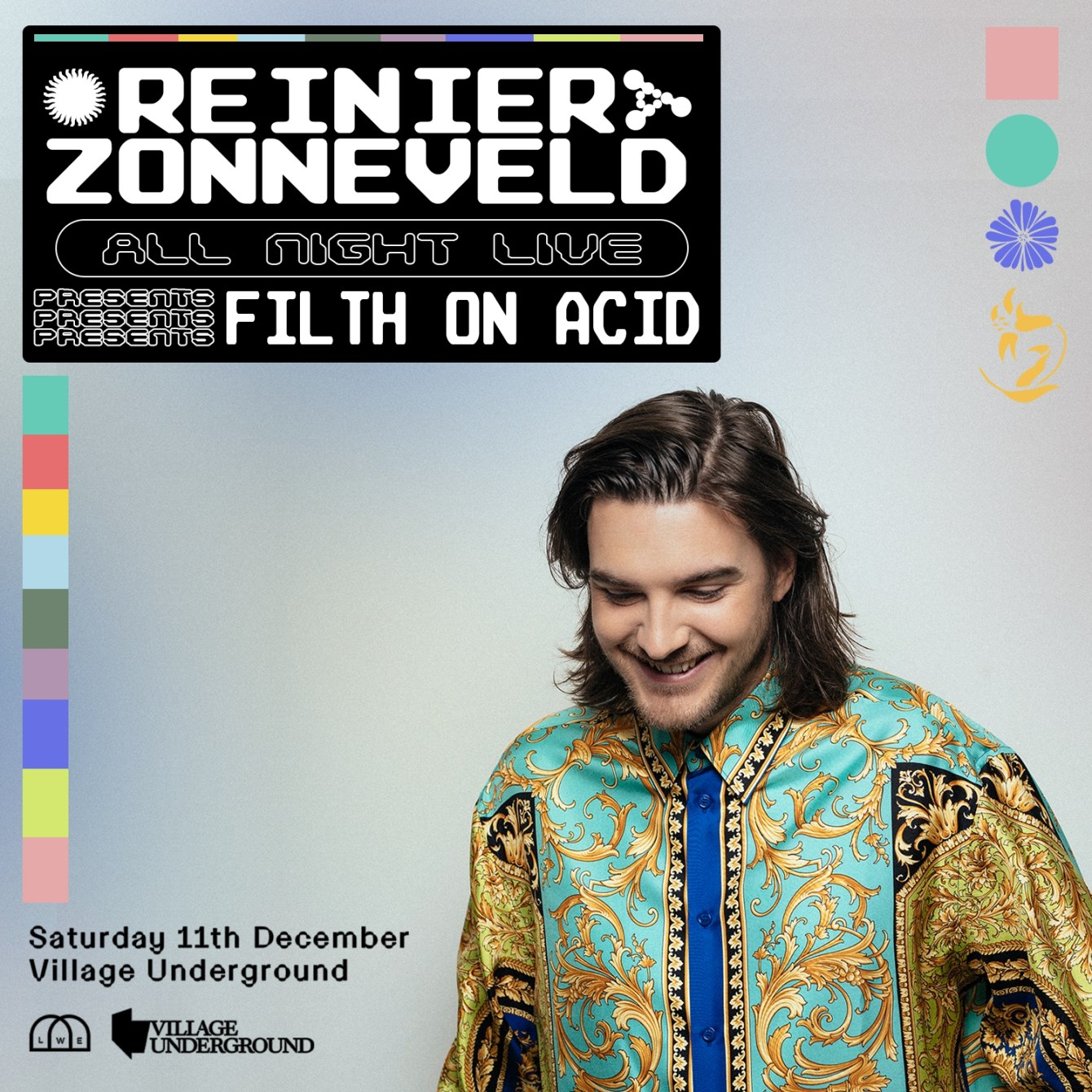 Reinier Zonneveld - All Night Live - Flyer front