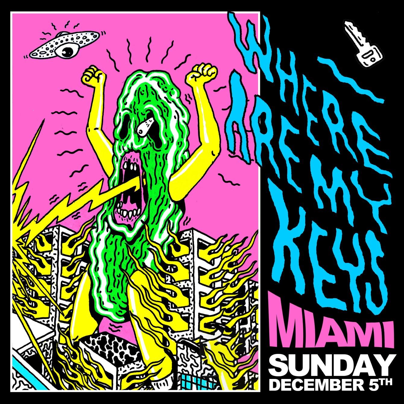 Where Are My Keys - Miami Basel - Flyer back
