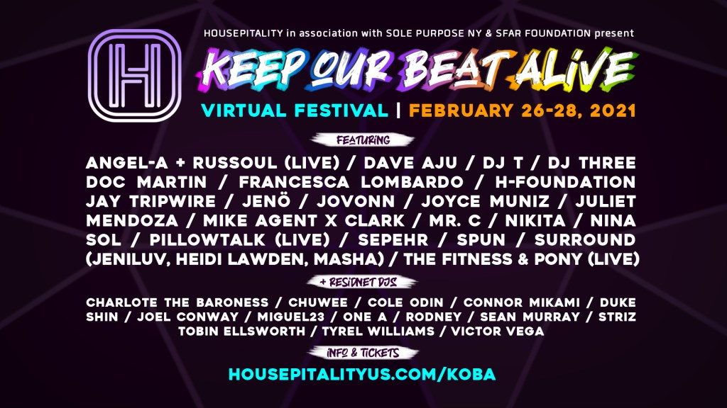 Housepitality: Keep Our Beat Alive - Virtual Festival - Flyer front
